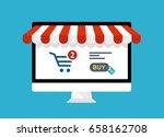 online shopping concept.... | Shutterstock .eps vector #658162708