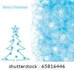 christmas decoration background ... | Shutterstock .eps vector #65816446