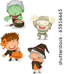 illustration of halloween  on a ... | Shutterstock . vector #65816665