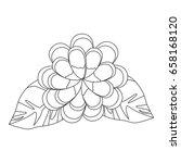 beautiful flowers design  | Shutterstock .eps vector #658168120