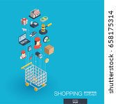 shopping integrated 3d web... | Shutterstock .eps vector #658175314