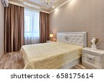 bedroom with a beautiful... | Shutterstock . vector #658175614