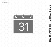 calendar isolated flat icon