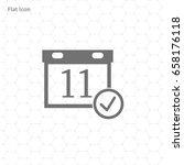 calendar isolated flat icon