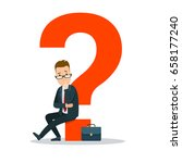 flat young businessman sitting... | Shutterstock .eps vector #658177240