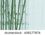 bamboo forest background.... | Shutterstock .eps vector #658177876
