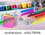 school and office supplies  | Shutterstock . vector #658178968