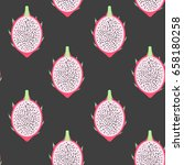 vector pitahaya exotic fruit... | Shutterstock .eps vector #658180258