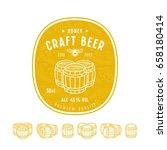 honey beer label and design... | Shutterstock .eps vector #658180414