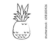 tropical flowers design | Shutterstock .eps vector #658183426
