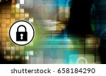 cyber security and information... | Shutterstock .eps vector #658184290