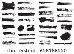 big set of vector black pen ink ... | Shutterstock .eps vector #658188550