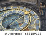 astronomical clock on town hall ... | Shutterstock . vector #658189138
