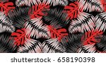 seamless tropical pattern in... | Shutterstock .eps vector #658190398