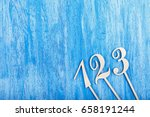 wooden numbers one  two  three... | Shutterstock . vector #658191244