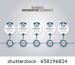 modern infographic options... | Shutterstock .eps vector #658196824