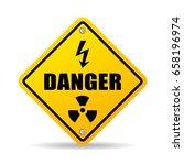 danger zone caution vector sign ... | Shutterstock .eps vector #658196974