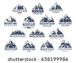 mountain sport climbing and... | Shutterstock .eps vector #658199986