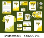 corporate identity templates of ... | Shutterstock .eps vector #658200148