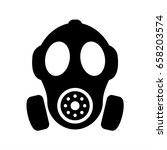 gas mask vector silhouette sign ... | Shutterstock .eps vector #658203574