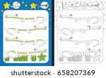 preschool worksheet for... | Shutterstock .eps vector #658207369