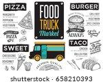 street food festival menu.... | Shutterstock .eps vector #658210393