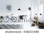 minimalistic black and white... | Shutterstock . vector #658211680