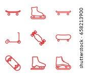 skate icons set. set of 9 skate ...   Shutterstock .eps vector #658213900