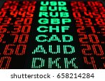 foreign currency exchange rates | Shutterstock . vector #658214284