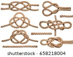 set of nautical rope knot... | Shutterstock . vector #658218004