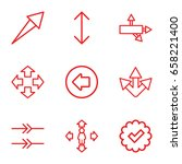right icons set. set of 9 right ...