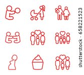 mom icons set. set of 9 mom... | Shutterstock .eps vector #658221523
