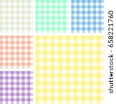 picnic table cloth. color... | Shutterstock .eps vector #658221760