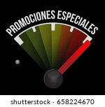 special promotions in spanish... | Shutterstock .eps vector #658224670