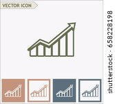 line icon  growth diagram | Shutterstock .eps vector #658228198