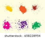 vector paint splatters.colorful ...