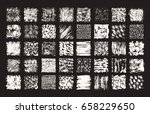 hand drawn textures and brush... | Shutterstock .eps vector #658229650