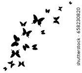 black butterfly  isolated on a... | Shutterstock . vector #658230820