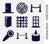 entrance icons set. set of 9... | Shutterstock .eps vector #658233136