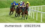 galloping race horses in racing ... | Shutterstock . vector #658235146