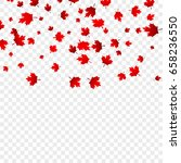 canada day maple leaves... | Shutterstock .eps vector #658236550