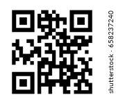 qr code icon . | Shutterstock .eps vector #658237240