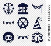 carnival icons set. set of 9... | Shutterstock .eps vector #658237270