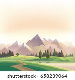 wildlife decorative landscape... | Shutterstock .eps vector #658239064