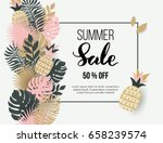 summer banner with tropical... | Shutterstock .eps vector #658239574