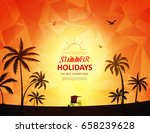 summer background | Shutterstock .eps vector #658239628