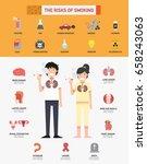 the risk of smoking... | Shutterstock .eps vector #658243063