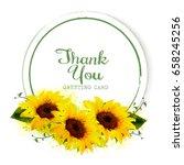 natural vintage greeting card... | Shutterstock .eps vector #658245256