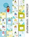 a photo book with cartoon... | Shutterstock .eps vector #658246114