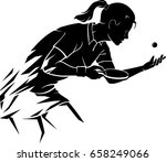 abstract female table tennis... | Shutterstock .eps vector #658249066